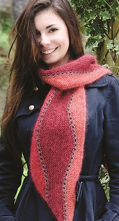 Simple but high impact design with short rows.  Ravelry: Marrakesh Scarf pattern by Suzanne Strachan