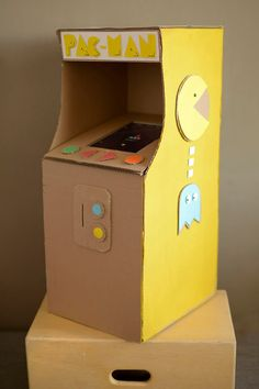 cardboard arcade...pac-man game...