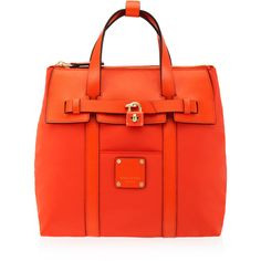 Henri Bendel Jetsetter Mini Convertible Backpack ($228) ❤ liked on Polyvore featuring bags, backpacks, med red, mini backpack, nylon crossbody, mini zipper pouch, nylon pouch and mini crossbody
