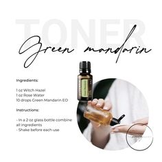 This DIY toner is AMAZING + only uses 3 ingredients! Toner For Face, Doterra Essential Oils, Rose Water, 3 Ingredients, Glass Bottles, Body Care, Amazing, Green, Diy