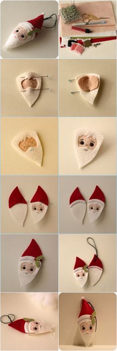 Gingermelon Dolls: Free Santa Ornament Pattern   DIY Crafts Tips