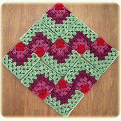 Como colocar granny squares                                                                                                                                                     Más