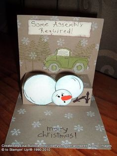 The oh no snow man card