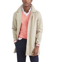 Imperméable à capuche mi-long Polo Ralph Lauren beige pour Homme Polo Ralph Lauren, Mi Long, Beige, Blazer, Coat, Jackets, Men, Fashion, Down Jackets