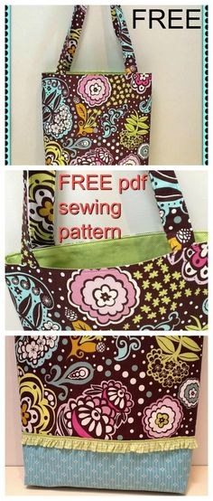 FREE downloadable pdf bag sewing pattern. This bag pattern was written to accompany a class for beginners to bag making and sewing in general. It can be a blueprint for many design variations so you can make it your own. The pattern includes full photographic support for each step.