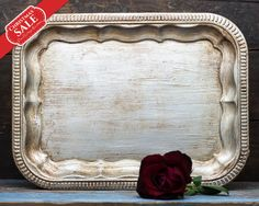 Wedding Table Decorations Vintage Silver Tray Antique Silver Wedding Favors Programs Cards Holder Holiday Gifts for Her