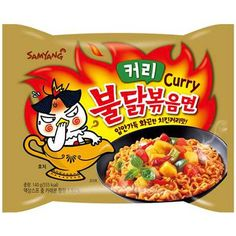 Buy Samyang Curry Hot Chicken Ramen (Keori Buldak Bokkeum Meyon) online from Asia Market. It blends Korean curry with hot chicken ramen. Korean Noodles, Ramen Noodles, Noodle Soups, Curry Ramen, Samyang Ramen, Fire Chicken, Chicken Curry, Fried Ramen, Hottest Curry