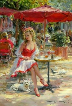 Love this and the cute pup too, lovely mood painting.♡♡♡