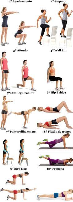 Treino para mulheres sem equipamento | Confira este programa de treino que permite trabalhar sobretudo a parte inferior (pernas) sem equipamento de musculação.: