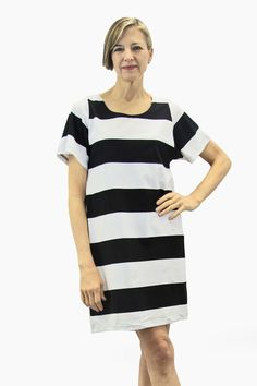 Ristomatti Ratia Maxi Stripe Sade Maxi Tunic Black/White