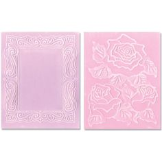 Sizzix Textured Impressions Embossing Folders 2PK - Roses & Frame Set by Jen Long Sizzix http://www.amazon.com/dp/B007QNHLL0/ref=cm_sw_r_pi_dp_z.65ub0A20RM6