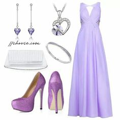 Lilac gown.  Love it!