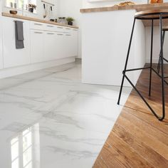 Make a statement in any room of the house with our durable and elegant marble effect floor tiles. Interior Work, Home Interior Design, Interior Architecture, Marble Floor Kitchen, Kitchen Flooring, Flooring Tiles, Vanity Decor, Entryway Furniture, Home Improvement