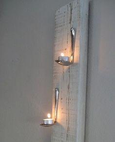 Porta velas reciclado!!! Para los dormitorios del campo!