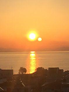Sunrise from our balcony in Zakynthos Greece, simply amazing !photo taken by me #luxurydotcom