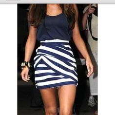 Love the sailor stripe style