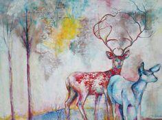 Ensemble Oil On Canvas, Saatchi Art, Moose Art, Original Paintings, Artist, Animals, Animales, Animaux, Artists
