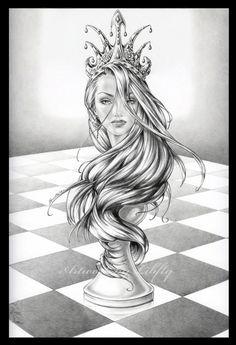 Chess - The Queen by Libfly.deviantart.com on @DeviantArt