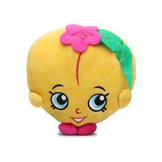 Shopkins Plush PEACHY Wave 3 Stuffed Animal Toy Peach Fruit BNWT #Fiesta