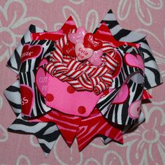 Valentine's Day Sweet Cupcake Hair Bow by MegansHairCandy on Etsy, $12.00
