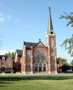 """St. Lawrence Catholic Church - 820 East Charles, Muncie, IN. North Country Unfading Black roofing slate, 20"""" x 10"""" x 1/4"""""""
