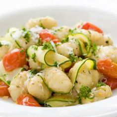 Gnocchi with Zucchini Ribbons & Parsley Brown Butter - ready in 20-minutes.