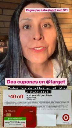 Target REDcard Offer: $40 descuento en la compra de $40 en Target cuando obtengas la tarjeta de débito o crédito de Target hasta el 26 Diciembre También el cupón de $5 en la compra de juguetes de $15 a más. Yo compre este regalo para mi sobrino a solo $11 despues de cupones y descuentos de Target. Todos los detalles en blog Grocery Coupons, Finance Tips, Personal Finance, Budgeting, Blog, Target, Shopping, Saving Tips, December