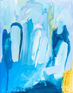 Seriously deep exploration of blues.  Love it!  Color Study No. 10 by Emily Rickard