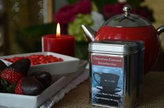 Chocolate-Covered Stawberry Black & Oolong Tea blend- Shuswap Infusions Loose Leaf Tea Collection