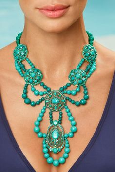 Deco statement necklace in Vacation 2013 from Boston Proper on shop.CatalogSpree.com, my personal digital mall.