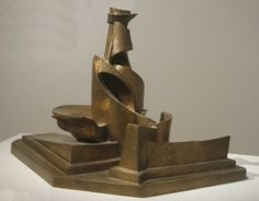Dynamism of a Bottle in Space (1913) by Boccioni - Part of exhibit: Italian Futurism at the Guggenheim Museum, NYC