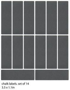 chalkboard vinyl labels - set of 14 (No.167). $ 8.00, via Etsy.