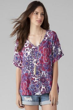 Roslin Printed Top $34.00
