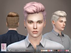 This hair style has 18 kinds of color  Found in TSR Category 'Sims 4 Male Hairstyles'