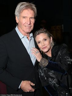 Ford and Fisher are seen at the 'Star Wars: The Force Awakens' film premiere in LA in December 2015