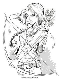 Katniss Ink by KelleeArt on DeviantArt #thehungergames #katniss #coloring