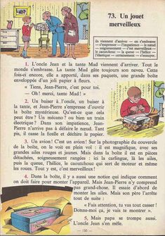 Manuels anciens: Tranchart, Levert, Rognoni, Bien lire et comprendre Cours élémentaire (1963) : grandes images English Story, English Class, Learn English, French Learning Books, Teaching French, French Expressions, Learn French Fast, French Worksheets, French Kids
