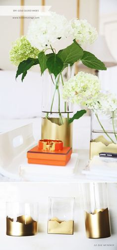 Gold Gilded Vases by Le Zoe Musings