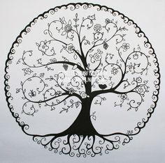 Cool tattoos, tree of life tattoos, miami ink tattoos, new tattoos, tattoo Mandalas Painting, Mandalas Drawing, Mandala Art, Tree Of Life Art, Tree Art, Simbolos Tattoo, Tattoo Tree, Roots Tattoo, Tattoo Forearm