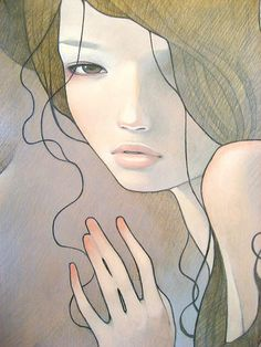 Audrey Kawasaki, artist. i like the hands in this one