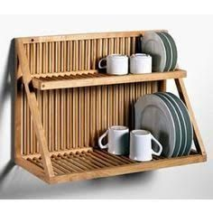 Hanging Wooden Dish Drainer Over The Sink To Save Counter Space