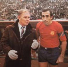 Anys 70. Kubala (seleccionador nacional) i Asensi (capità de la selecció)