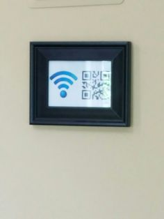 Wi-Fi password photo frame for the home or business