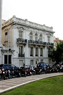 Konstantinou Vourou residence, Paparrigopoulou street.    Designed by Gerasimos Metaxas. Now houses tthe city of Athens museum