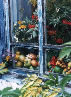 Autumnal window...via vintagehometumblr.