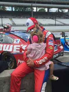 JJ with Lydia during qualifying in Indy.