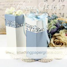 Tutorial using Spellbinders Filigree Delight - Make a Box - www.amazingpapergrace.com