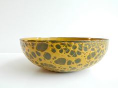 Hanova Brutalist modern enamel bowl