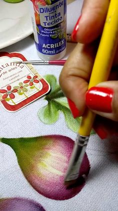 Fruit Painting, Tole Painting, Fabric Painting, Fabric Art, Painting & Drawing, Painting Videos, Painting Lessons, Painting Techniques, Art Lessons