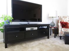New and improved our TV stand the IKEA Hemnes HEMNES Tv